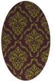 rug #518125 | oval purple traditional rug