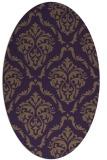 rug #518129 | oval purple damask rug