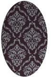 rug #518133 | oval purple damask rug
