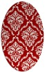 rug #518137 | oval red traditional rug