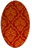 rug #518141 | oval red traditional rug