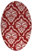 rug #518145 | oval red traditional rug