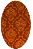 rug #518153 | oval red-orange damask rug