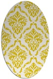 rug #518173 | oval white damask rug