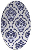 rug #518177 | oval white damask rug