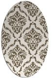 rug #518192 | oval damask rug