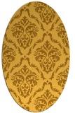 rug #518201   oval yellow damask rug