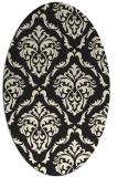 rug #518205 | oval black traditional rug