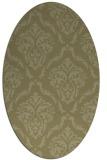 rug #518221   oval light-green damask rug