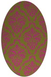 rug #518225 | oval light-green rug