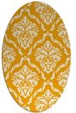 rug #518233 | oval light-orange damask rug