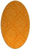 rug #518241 | oval light-orange rug