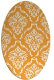 rug #518245 | oval white damask rug