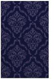 rug #518333 |  blue-violet damask rug