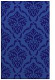 rug #518353    blue-violet damask rug