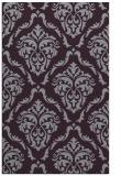 rug #518485 |  purple damask rug