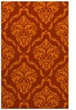 rug #518505 |  red-orange damask rug