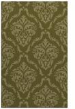 rug #518581    light-green damask rug