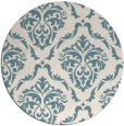 rug #518625 | round blue-green traditional rug