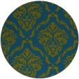 rug #518661 | round green damask rug