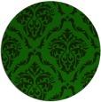 rug #518669 | round green damask rug