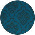 rug #518677 | round blue-green traditional rug