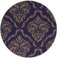 rug #518709 | round beige damask rug