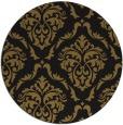 rug #518717 | round mid-brown damask rug