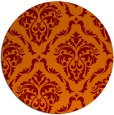 rug #518789 | round red-orange rug