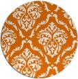 rug #518793 | round orange damask rug