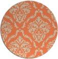 rug #518797 | round orange damask rug