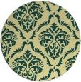 rug #518805 | round yellow damask rug