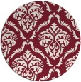 rug #518813 | round pink damask rug