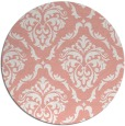 rug #518821 | round pink traditional rug