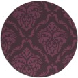 rug #518825 | round purple traditional rug