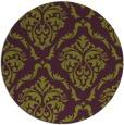 rug #518829 | round purple damask rug