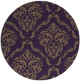 rug #518833 | round purple traditional rug