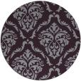 rug #518837   round purple damask rug