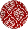 rug #518841 | round red rug