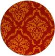 rug #518845 | round red damask rug