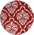 rug #518849 | round red traditional rug