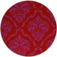 rug #518853 | round red traditional rug