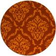 rug #518857   round red-orange traditional rug