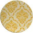 rug #518889 | round yellow traditional rug