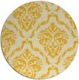 rug #518889 | round yellow damask rug
