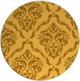 rug #518905 | round yellow damask rug