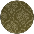 rug #518933 | round light-green damask rug