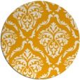 rug #518937 | round light-orange damask rug
