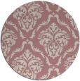 rug #518941 | round pink damask rug