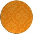 rug #518945 | round light-orange traditional rug